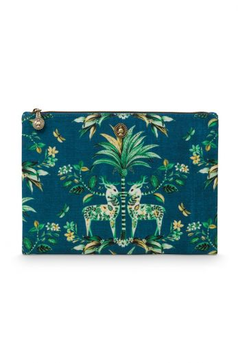 Beach Pouch Flat Medium Tropic Twins
