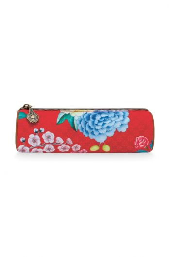 Make-up etui klein Floral Good Morning rood