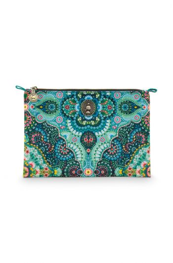 Cosmetic Flat Pouch Medium Moon Delight Blue