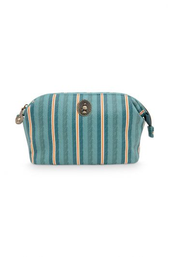 Cosmetic Purse Small Blurred Lines Green