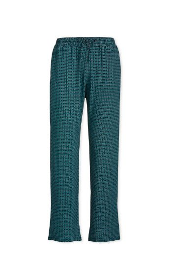 Trousers Long Folk Stitch Blue