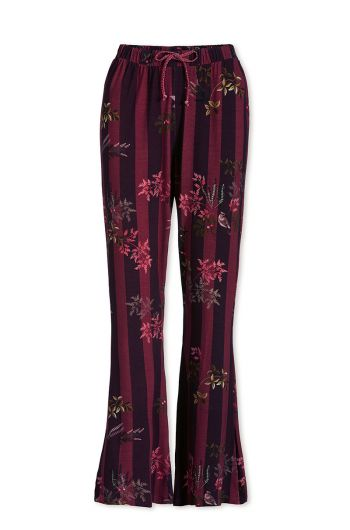 Trousers Long Woodsy Tales Stripe Dark Red