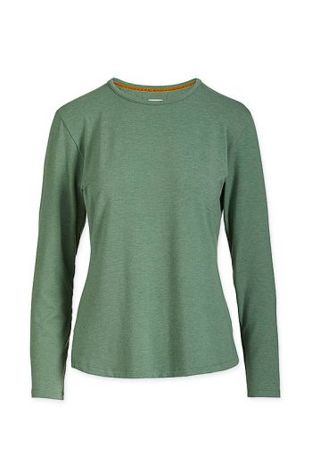Top Long Sleeve Green Melee