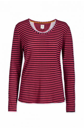 top-long-sleeve-fushion-stripe-red