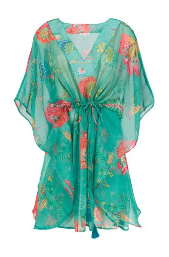Tunic Jambo Flowers Dark Green