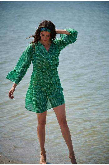 dewouter-tunic-ajour-grün-beackwear-pip-studio