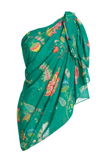 Pareo Jambo Flowers Dark Green