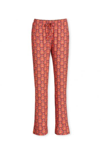 Trousers Long Raindrops Red