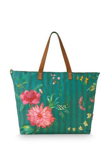 beach-bag-fleur-grandeur-grün-66x20x44-cm-nylon/satin-1/24-pip-studio-51.273.234