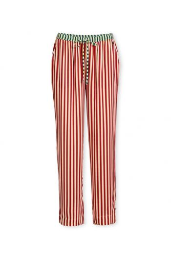 Trousers Long Sleepy Stripe Red