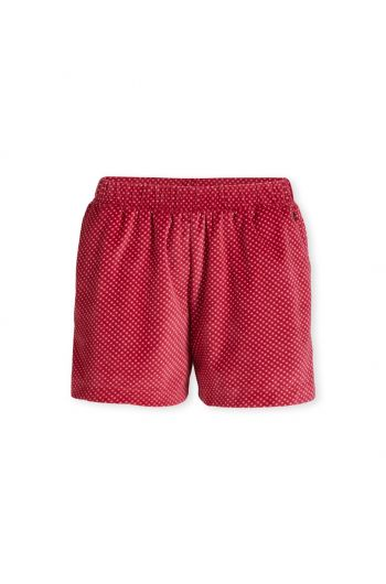 Trousers Short Twinkle Star Velvet Red