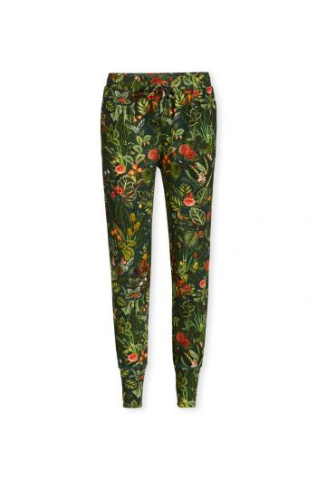 Trousers Long Forest Foliage Small Green