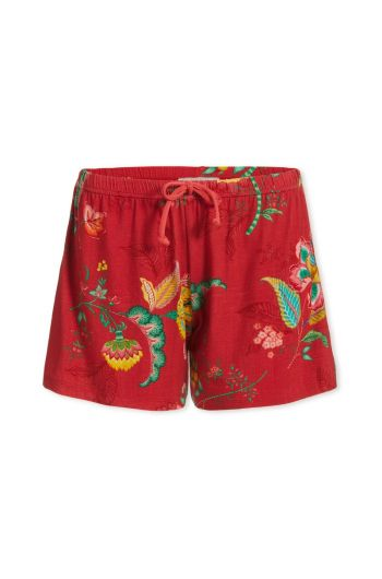 Trousers Short Jambo Flower Red