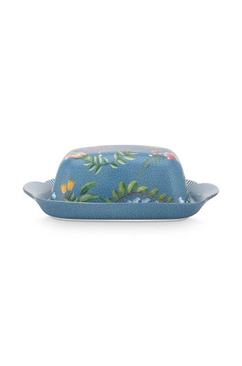 butter-dish-la-majorelle-made-of-porcelain-with-flowers-in-blue