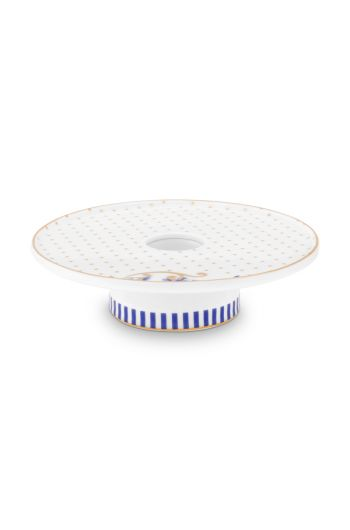 candle-tray-royal-dots-14-cm-1/32-gold-white-blue-pip-studio-51.092.069
