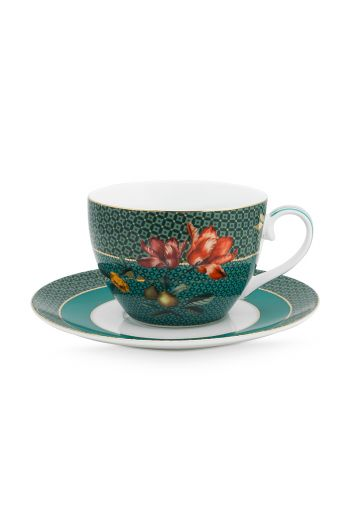 cappuccino-cup-and-saucer-winter-wonderland-made-of-porcelain-with-flowers-in-green