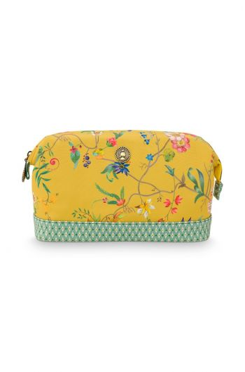 cosmetic-purse-medium-petites-fleurs-yellow-22.5x9.5x15-cm-nylon/satin-1/36-51.274.139