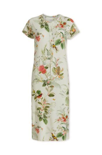 Nightdress short sleeve Floris Off White