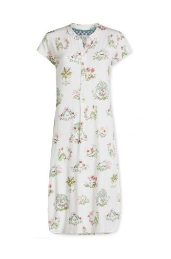 Nightdress short sleeve Boasin White