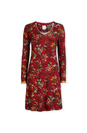 Nachthemd mit Langen Ärmeln Berry Delight Rot