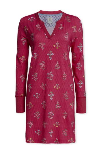 Long sleeve nightdress Winter Wonderland Cerise
