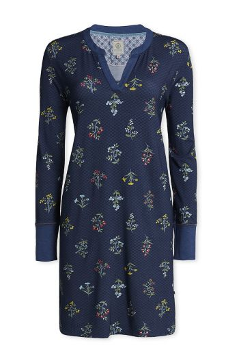 Long sleeve nightdress Winter Wonderland blue