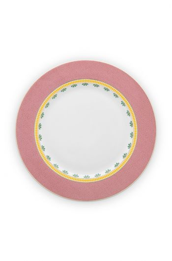 dinner-plate-la-majorelle-made-of-porcelain-in-pink-26,5-cm