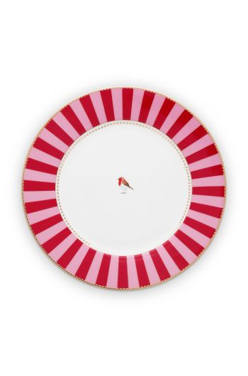dinner-plate-love-birds-in-red-and-pink-with-bird-26,5-cm