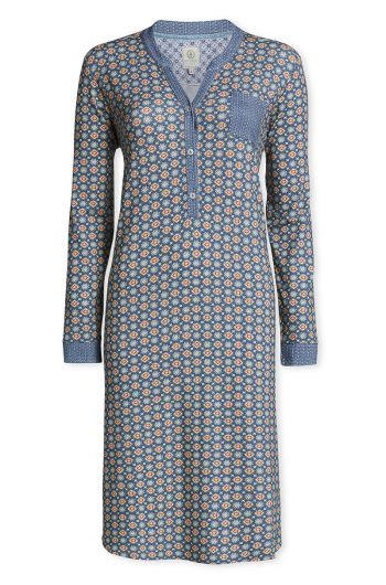 Long sleeve nightdress Pipster blue