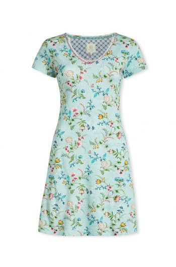 Nightdress short sleeve La Majorelle Blue
