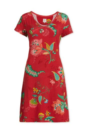 Nightdress short sleeve Jambo Jasmin Red