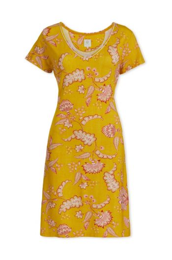 Nightdress short sleeve Jambo Yellow