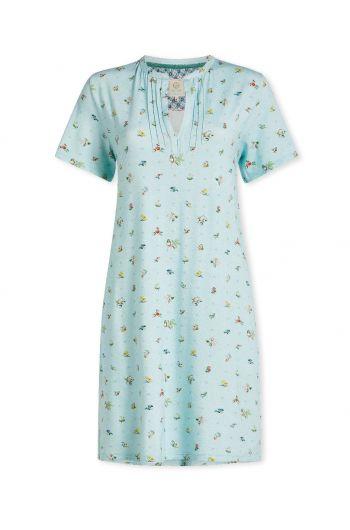 Nightdress short sleeve Moss Blue