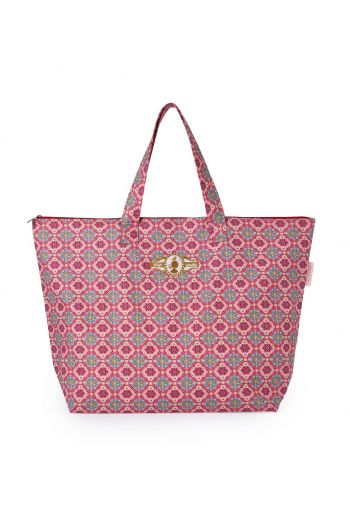 Beach Bag Double Check Pink