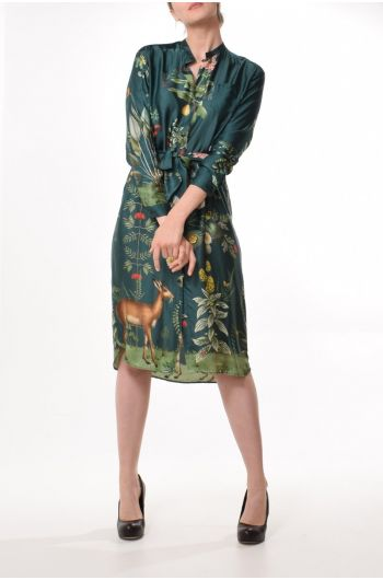 Buzz Dress Deer Print