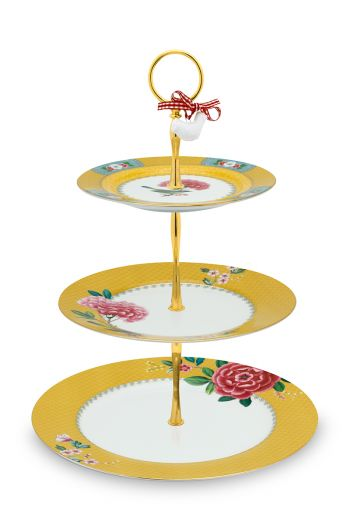 cake-stand-3-levels-blushing-birds-made-porcelain-yellow