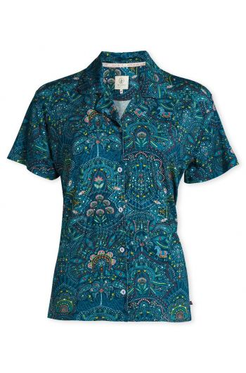 Top Kurzarm Sunrise Polo blau