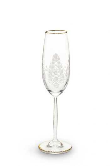 Floral champagneglas