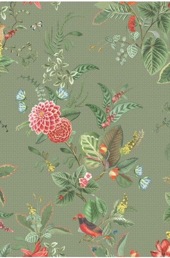 Floris Wallpaper Green