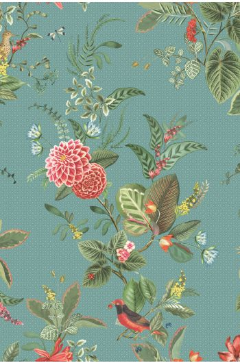 Pip Studio Floris Wallpaper Petrol