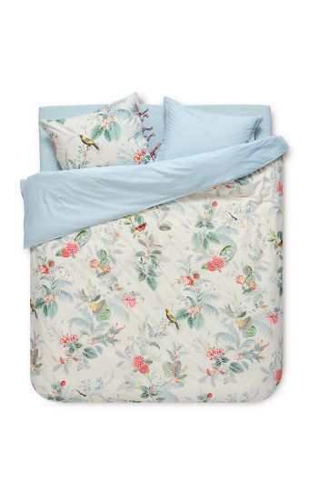 Duvet cover Floris White