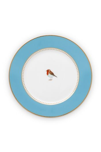 pastry-plate-love-birds-in-blue-with-bird-17-cm