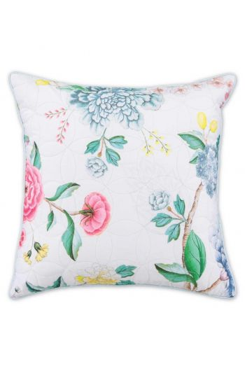 Cushion square Quilted Good Evening White