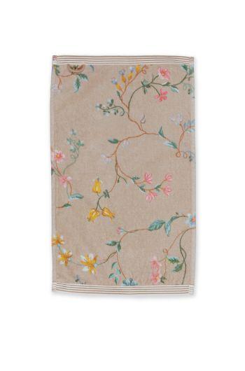 guest-towel-les-fleurs-khaki-bloemen-30x50-pip-studio-217805