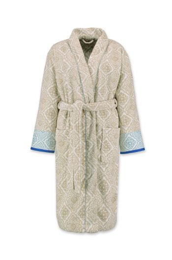 Bathrobe Jacquard Check Khaki