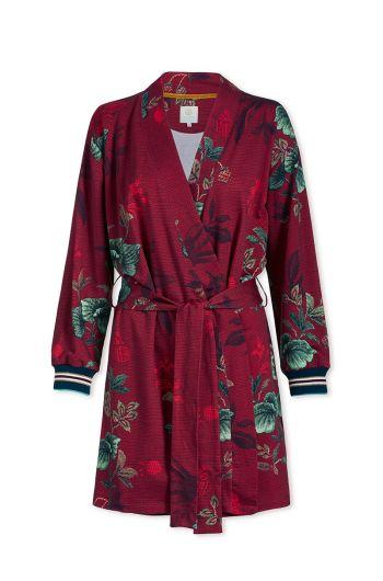 Kimono Leafy Stitch Red