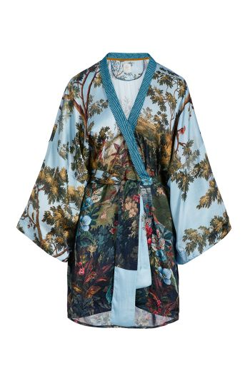 Kimono Winter Blooms 3/4 Sleeve Multi