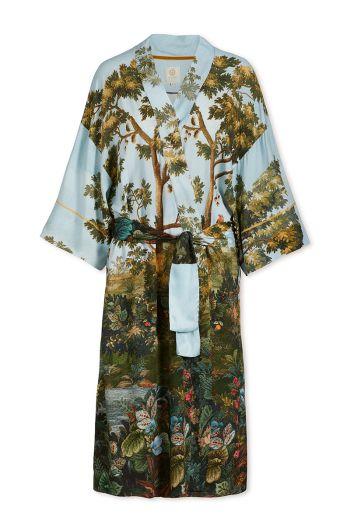 Kimono mit 3/4-Ärmeln Winter Blooms Multi