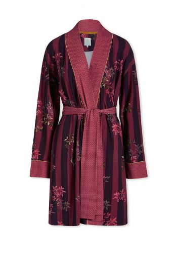 Kimono Woodsy Tales Stripe Dark Red