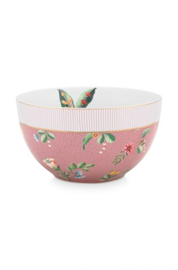 bowl-la-majorelle-made-of-porcelain-with-a-palm-tree-and-flowers-in-pink-18-cm